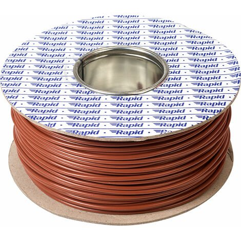 Rapid GW011210 Equipment Wire 32/0.2 Brown 100m