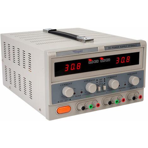 Rapid HY3005-3 Triple Output Bench PSU LED 2x0-30V 0-5A 1x 5V 3A