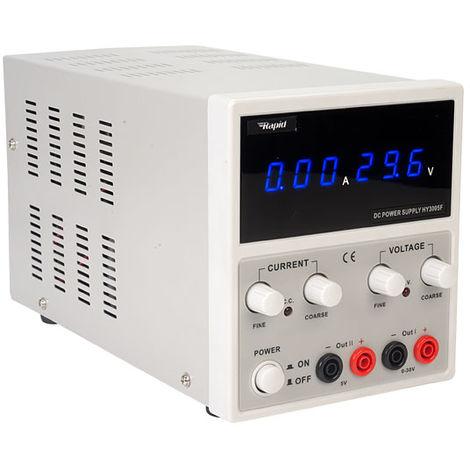 Rapid HY3005F Dual Output Bench PSU LED 1x 0-30V 0-5A 1x 5V 3A