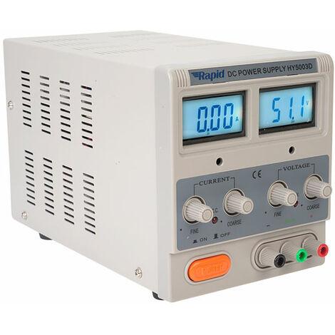 Rapid HY5003D Single Output Bench PSU LED 1x0-50V 0-3A