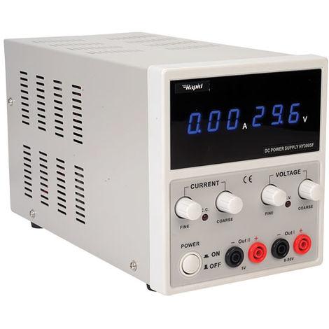 Rapid HY5003F Dual Output Bench PSU LED 1x 0-50V 0-3A 1x 5V 3A