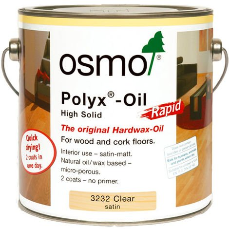 Rapid Osmo Polyx-Oil Clear Satin (3232) 0.75L