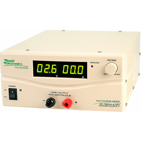 Rapid PS1540S SMPS(Switch Mode Power Supply) 15V 40A with Digital Display