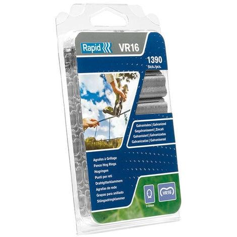 Rapid RPDVR22GA110 VR22 Fence Hog Rings Pack 1100 Galvanised