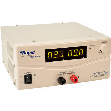 Rapid SPS-9250-209MG SMPS(Switch Mode Power Supply) 15V 25A with Digital Display