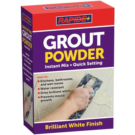 Rapide Quick Setting Grout Powder Instant Mix 600g