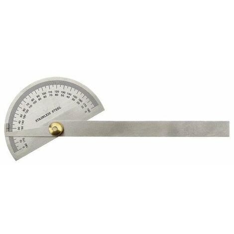 Rapporteur d'angle inox diam.90 mm - lg 150 mm