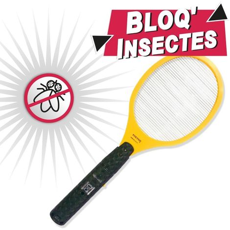 Raquette électrique anti-insectes Bloq'Insectes - Sans piles