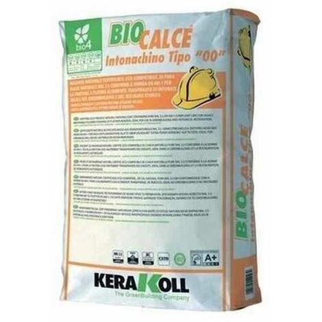 """Rasante naturale traspirante per finitura a platrio Biocalce Intonachino tipo """"00"""" 20Kg 12046 Kerakoll"""