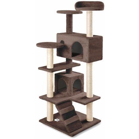 Rascador centro de juegos y descanso arbol para gatos de 130cm de altura -McHaus