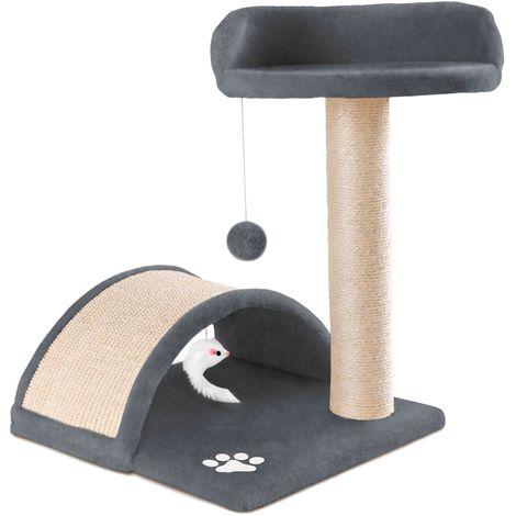 Rascador centro de juegos y descanso arbol para gatos de 50cm de altura -McHaus