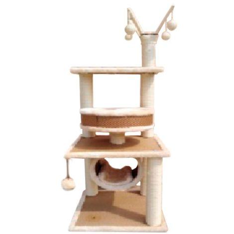 Rascador para gatos Centro de juegos cuadrado 41 x 41 x 120 cm