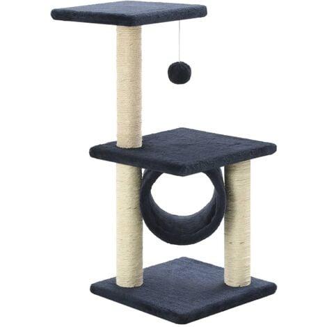 Rascador para gatos con poste de sisal 65 cm azul oscuro