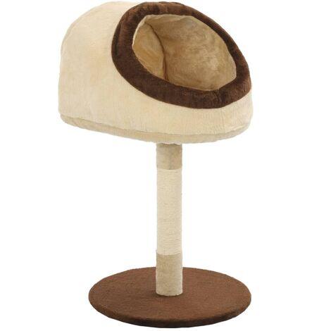 Rascador para gatos con poste de sisal 72 cm beige y marrón