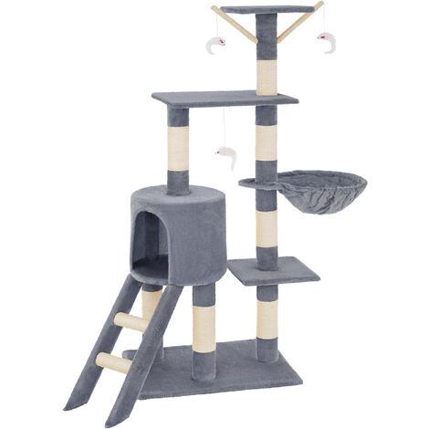 Rascador para gatos Dominik - árbol rascador para gatos, parque de juegos para gatos con columnas de sisal, juguete para gatos con casetas