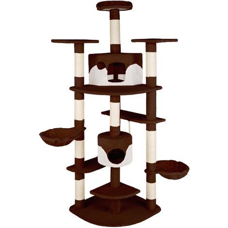 Rascador para gatos Fippi - árbol rascador para gatos, parque de juegos para gatos con columnas de sisal, juguete para gatos con casetas