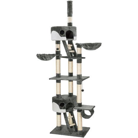 Rascador para gatos Hansi - árbol rascador para gatos, parque de juegos para gatos con columnas de sisal, juguete para gatos con casetas