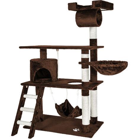 Rascador para gatos Marcel - árbol rascador para gatos, parque de juegos para gatos con columnas de sisal, juguete para gatos con casetas