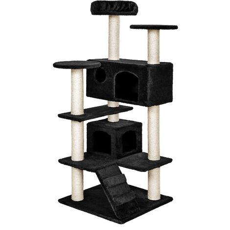 Rascador para gatos Micki - árbol rascador para gatos, parque de juegos para gatos con columnas de sisal, juguete para gatos con casetas
