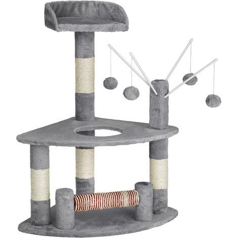 Rascador para gatos Mitzi 90 cm - árbol rascador para gatos, parque de juegos para gatos con columnas de sisal, juguete para gatos con pelotas