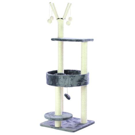 Rascador para gatos negro Centro de juegos 41 x 41 x 120 cm