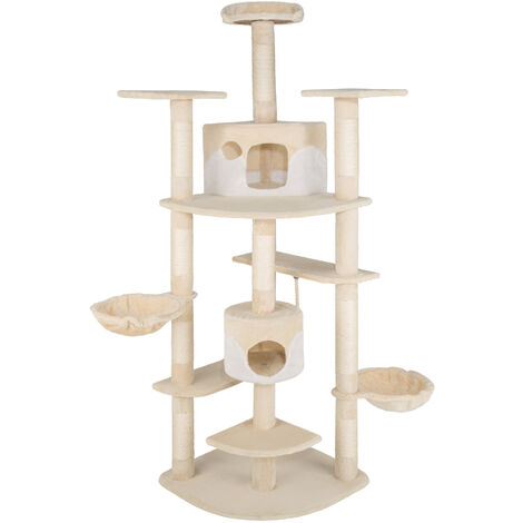 Rascador para gatos Nelly - árbol rascador para gatos, parque de juegos para gatos con columnas de sisal, juguete para gatos con casetas