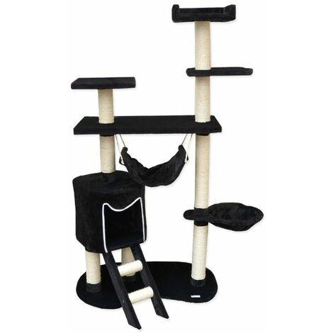 Rascador para gatos Sisal arbol 155cm negro