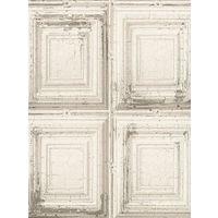 Rasch Distressed Wood Panels White Wallpaper