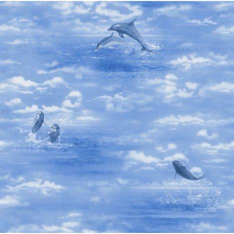 Rasch Dolphin Blue Wallpaper