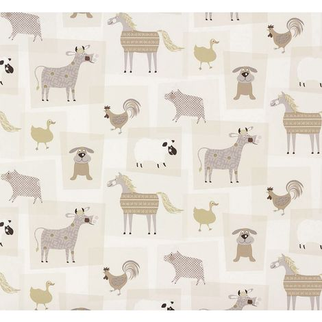 Rasch Farmyard Animals Childrens Wallpaper