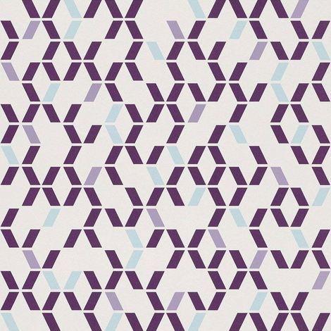 Rasch Geometric Purple/ Blue Wallpaper