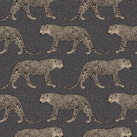 Rasch Gold/ Black Leopard Wallpaper