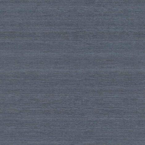 Rasch Mandalay Blue Linen Textured Wallpaper - Blue - 528886