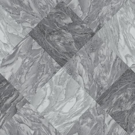 Rasch Marble Tile Effect Wallpaper Slate Grey Diamond Modern Textured Vinyl