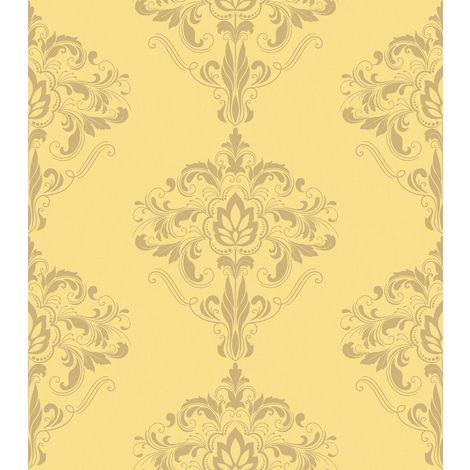 Rasch Marlow Damask Yellow/ Gold Wallpaper