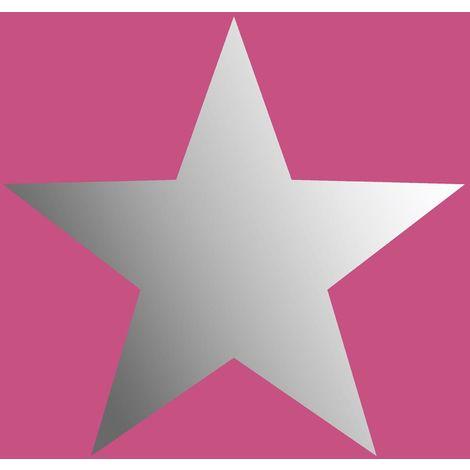 Rasch Metallic Stars Pink/ Silver Wallpaper