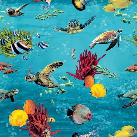 Rasch Ocean Blue/ Multi Wallpaper