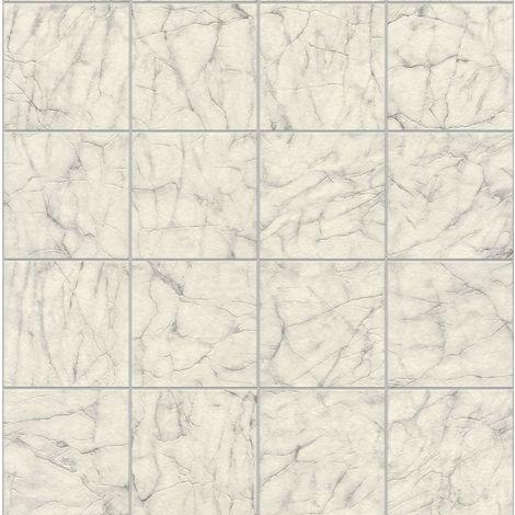 Rasch Off White Marble Pattern Wallpaper