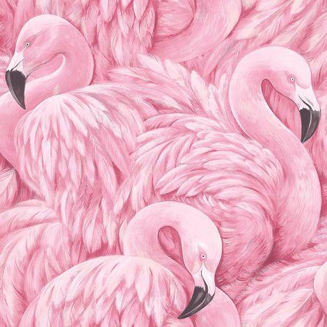 Rasch Pink Flamingo Wallpaper
