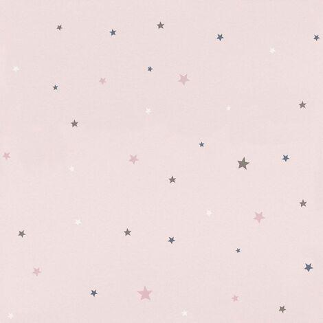 Rasch Pink Stars Wallpaper