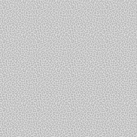 Rasch Silver Metallic Leopard Print Wallpaper