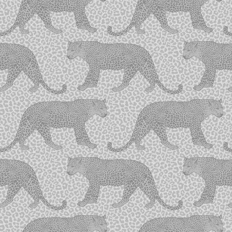 Rasch Silver Metallic Leopard Wallpaper