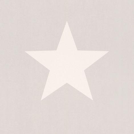 Rasch Star White/ Grey Wallpaper