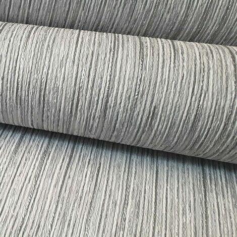 Rasch Textured Metallic Silver Light Grey White Plain Wallpaper Shimmer Shine