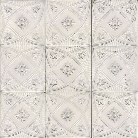 Rasch Tile Effect Ornament Wallpaper