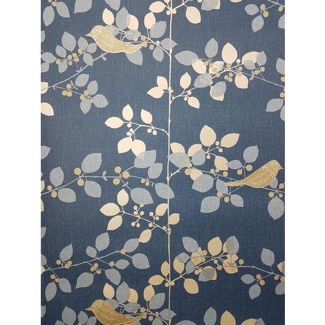 Rasch Tree Blossom Blue Wallpaper