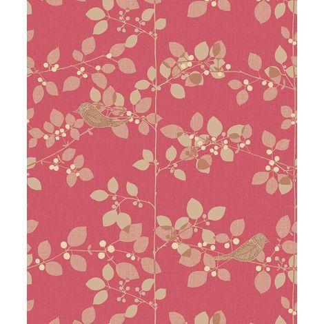 Rasch Tree Blossom Red Wallpaper