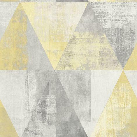 Rasch Triangle Vintage Yellow Wallpaper
