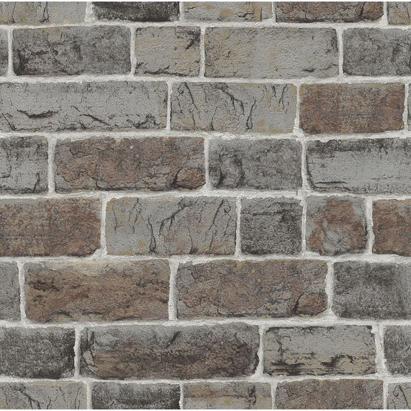 Image of Home Style - Brick Effect Wallpaper Natural Wall Urban Stone Embossed Industrial Rustic