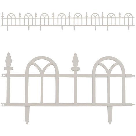 Beetumrandung Beeteinfassung Raseneinfassung Rasenkante Palisade Ziergitter Zaun